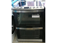 r183 stainless steel aeg double oven ceramic hob electric cooker new with manufacturers warranty