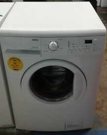 a668 white zanussi 6kg 1600spin washing machine comes with warranty can be delivered or collected