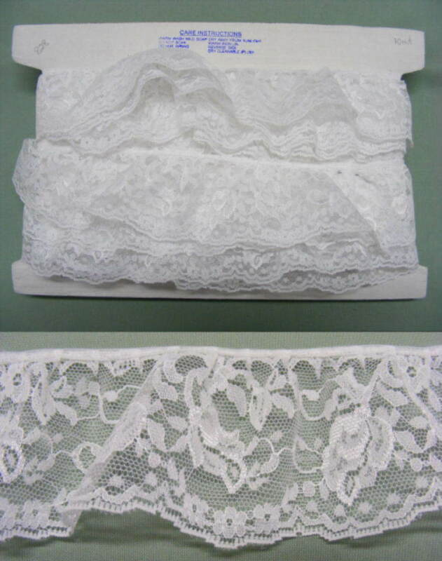 Gathered Lace White 20 metres  (828)