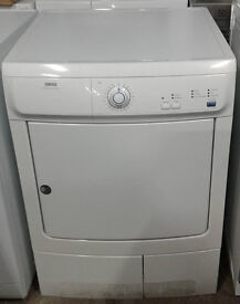 I415 white zanussi 7kg condenser dryer comes with warranty can be delivered or collected