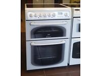 60cm Hotpoint Ceramic Cooker, Double Fan Assisted Oven/Grill - 6 Months Warranty