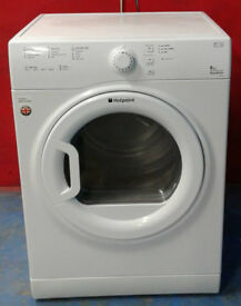 E533 white hotpoint 8kg vented dryer comes with warranty can be delivered or collected