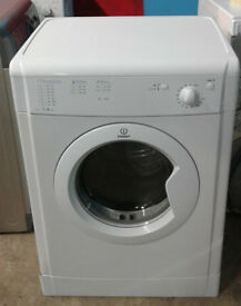 p486 white indesit 7kg B rated vented dryer comes with warranty can be delivered or collected