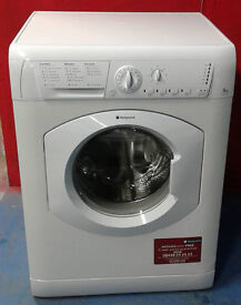 F465 white hotpoint 5kg 1200spin washing machine comes with warranty can be delivered or colected