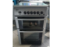 y479 silver beko 60cm double oven gas cooker comes with warranty can be delivered or collected