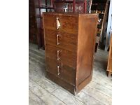Art Deco Tallboy / Chest Of Drawers
