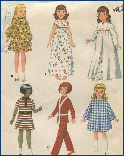 "1960s Vintage 11"" to 12-1/2"" Doll Wardrobe Original Sewing Pattern McCall"