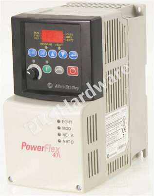 Allen Bradley 22b-d6p0n104 Series A Powerflex 40 Ac Drive 480v 6a 3hp Frn 6.02