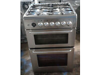 a116 stainless steel servis 60cm dual fuel cooker comes with warranty can be delivered or collected