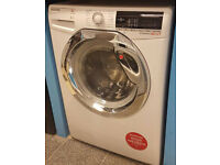 O166 New white & chrome 9kg 1600spin washing machine comes with warranty can be delivered