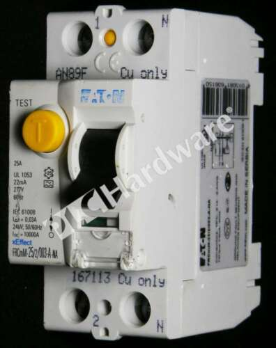 Eaton FRCMM-25/2/003-A-NA Residual Current Circuit Breaker (RCCB) 25A 2P Type A