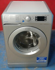F544 NEW silver indesit 9kg 1400 spin washing machine comes with warranty can be delivered or coll