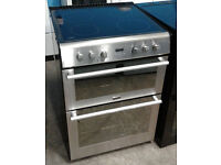 o187 stainless steel stoves 60cm double oven ceramic hob electric cooker comes with warranty