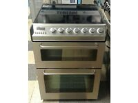 b627 stainless steel zanussi 60cm double oven cooker with warranty can be delivered or collected