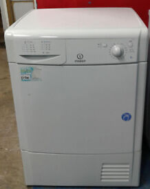 l563 white indesit 8kg condenser dryer comes with warranty can be delivered or collected