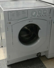 y002 white hotpoint 6.5kg integrated washing machine comes with warranty can be delivered