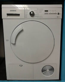 L165 white siemens 8kg condenser dryer comes with warranty can be delivered or collected