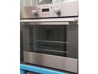 Io50 stainless steel integrated single oven comes with warranty can be delivered or collected
