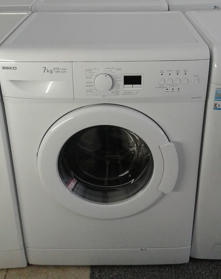 J682 white beko 7kg 1300 spin washing machine comes with warranty can be delivered or collected