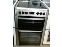 a241 stainless steel beko 60cm double oven ceramic hob electric cooker comes with warranty