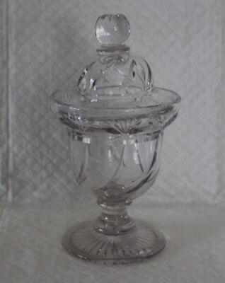 Covered Lidded Cut Glass Vase Pot