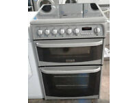 a150 silver cannon 60cm double oven ceramic electric cooker comes with warranty can be delivered