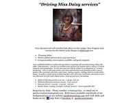 Driving Miss Daisy services