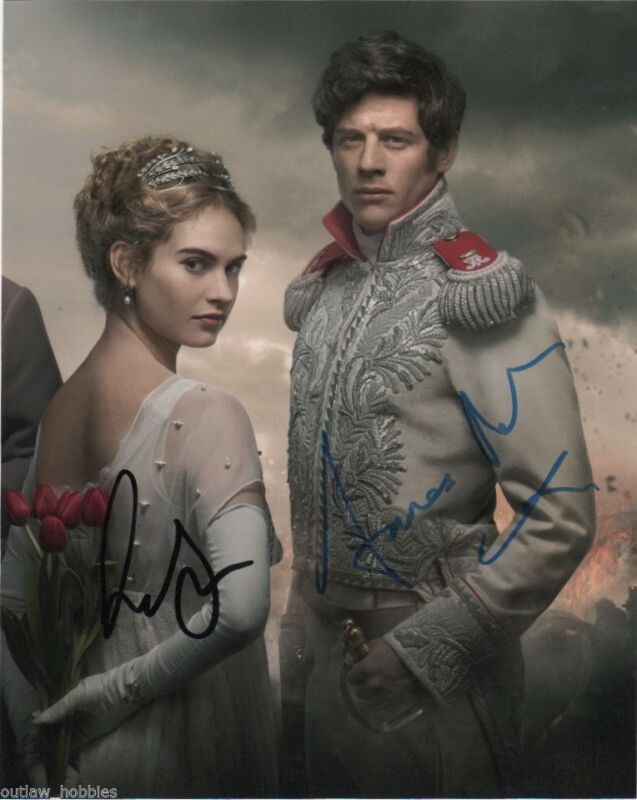 Lily James James Norton War & Peace Autographed Signed 8x10 Photo COA