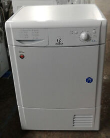 B488 white indesit 8kg B rated condenser dryer new graded 12 month warranty can be delivered