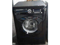 m151 black hotpoint 8kg 1400spin washing machine comes with warranty can be delivered or collected