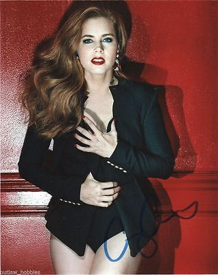 Amy Adams Sexy Autographed Signed 8X10 Photo Coa  J2