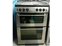 l350 stainless newworld 60cm double oven gas cooker come with warranty can be delivered or collected