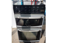 y476 silver & black cannon oakley 50cm double oven gas cooker comes with warranty can be delivered