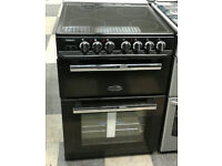 a554 black rangemaster 60cm double oven ceramic hob electric cooker new with manufacturers warranty