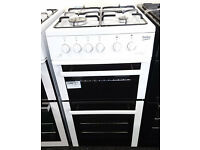 *76 white beko 50cm gas cooker comes with warranty can be delivered or collected