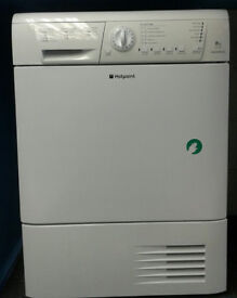 a110 white hotpoint 8kg set & forget condenser dryer comes with warranty can be delivered