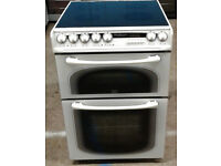 Z195 white creda 60cm double oven ceramic hob electric cooker comes with warranty can be delivered