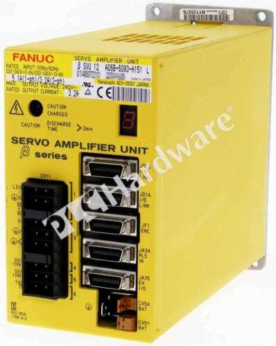 GE Fanuc A06B-6093-H151 /L Servo Amplifier Unit SVU-12 240V AC 5.1A 1-P 3.2A 3-P
