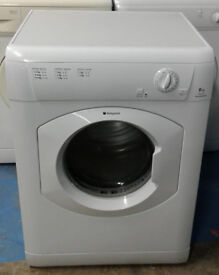 n021 white hotpoint 6kg vented dryer comes with warranty can be delivered or collected