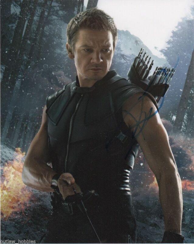 Jeremy Renner Avengers Autographed Signed 8x10 Photo COA #4