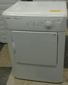 S278 white beko 7kg vented dryer comes with warranty can be delivered or collected