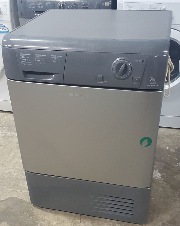 q335 graphite hotpoint 7kg condenser dryer comes with warranty can be delivered or collected