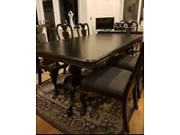 stunning chic 8 seater table and chairs