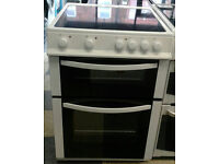 a117 white logik 60cm ceramic hob electric cooker comes with warranty can be delivered or collected