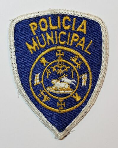 VTG OBSOLETE PUERTO RICO POLICE SHOULDER PATCH / POLICIA MUNICIPAL 1970