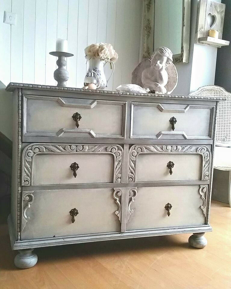 Shabby Chic Chest of Drawers in Annie Sloan, Free delivery within 50 miles!