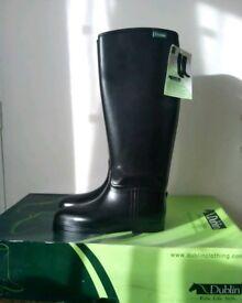 Brand New Dublin Black Tall Riding Boots size 7.