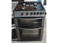 b240 graphite logik 60cm gas cooker comes with warranty & can be delivered or collected