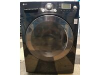 i471 black LG 9kg 1400spin washing machine comes with warranty can be delivered or collected