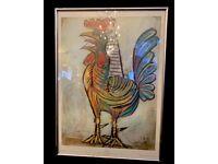 "Vintage Pablo Picasso Framed Print ""The Cock"""